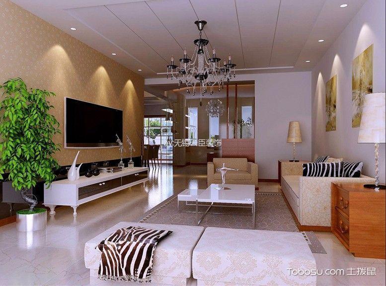 客厅 背景墙_简约风格134平米三房两厅新房装修效果图