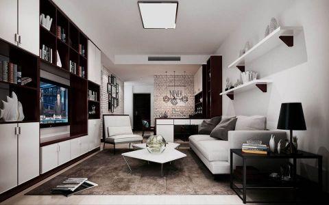 混搭风格100平米套房新房装修效果图