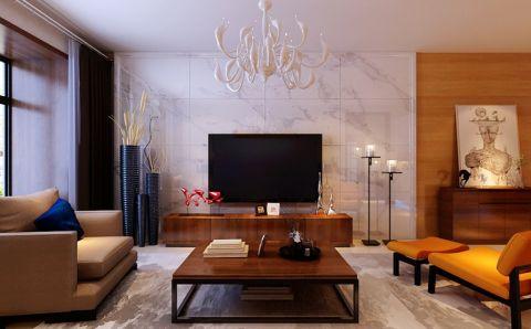 现代简约风格155平米三房两厅新房装修效果图