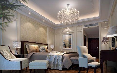 中式风格300平米别墅新房装修效果图