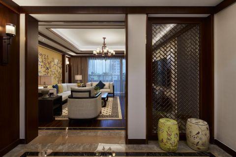 客厅隔断新中式风格效果图
