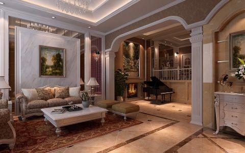 欧式风格400平米别墅房子装饰效果图