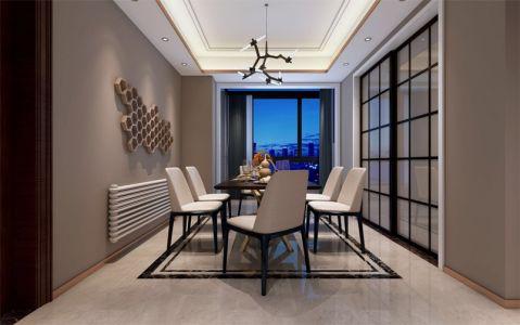 现代简约风格200平米复式新房装修效果图