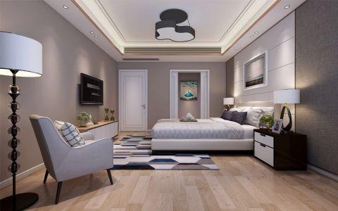 卧室吊顶现代简约风格装修效果图