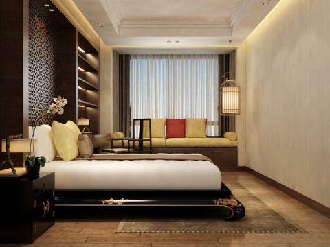 卧室现代中式风格装修效果图