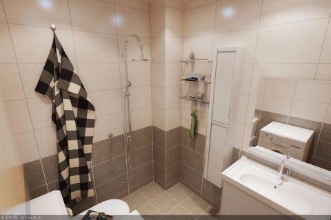 卫生间背景墙现代简约风格装潢设计图片