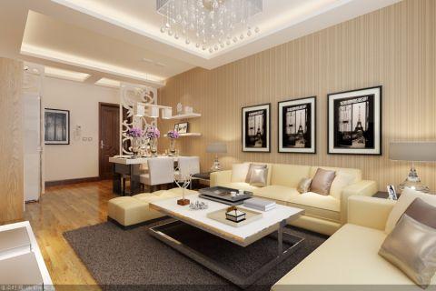 现代简约风格86平米2房2厅房子装饰效果图