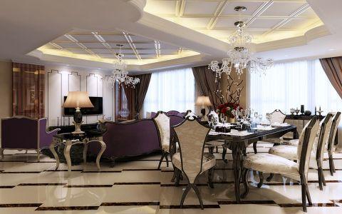 欧式风格110平米3房2厅房子装饰效果图
