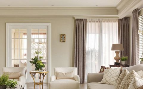 客厅推拉门美式风格装修效果图