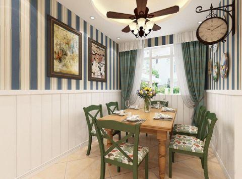 餐厅窗帘田园风格装饰图片