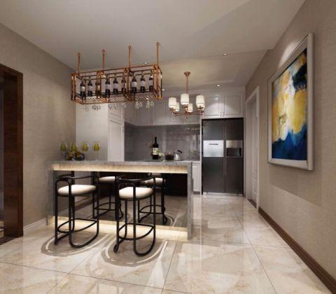 厨房吧台现代欧式风格装饰设计图片