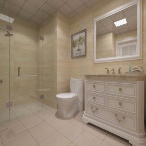 卫生间洗漱台现代欧式风格效果图