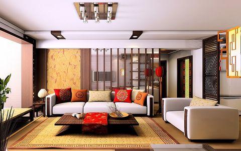客厅吊顶中式风格装饰设计图片