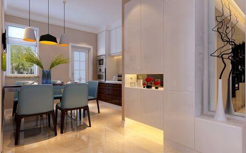 餐厅地板砖现代简约风格装潢效果图