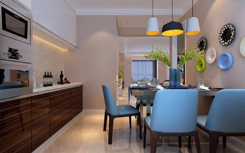 餐厅灯具现代简约风格装修图片