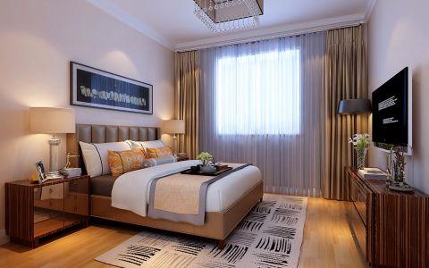 卧室床头柜现代简约风格装潢图片