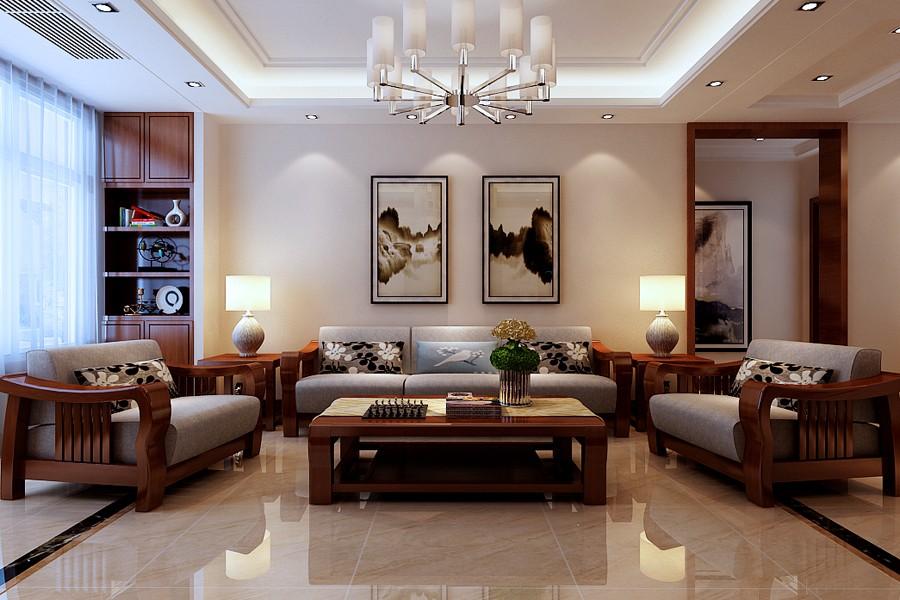 3室1卫1厅130平米新中式风格