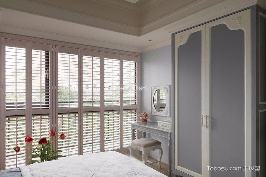 卧室灰色梳妆台田园风格装潢设计图片