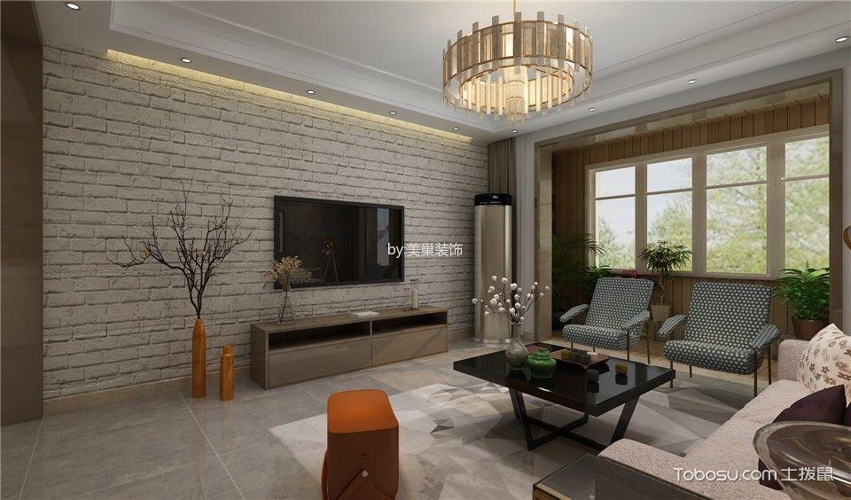 客厅米色灯具混搭风格装修设计图片