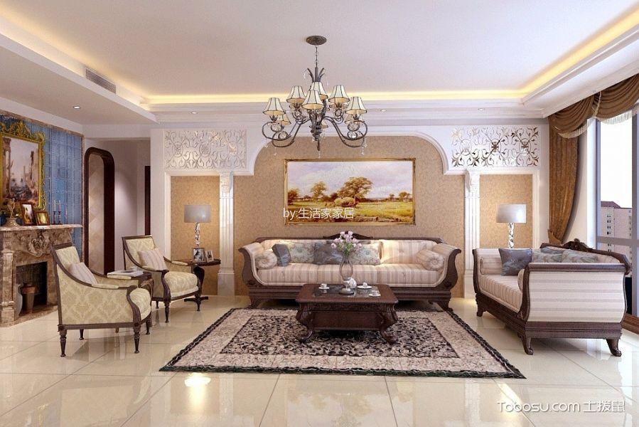 欧式风格200平米3房2厅房子装饰效果图