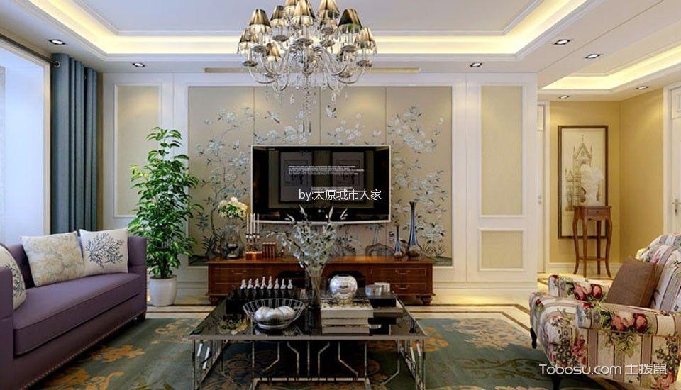 客厅 背景墙_现代简约风格160平米套房室内装修效果图