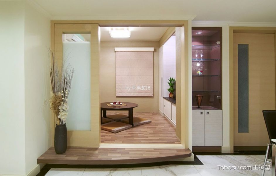 客厅黄色地板砖现代风格效果图