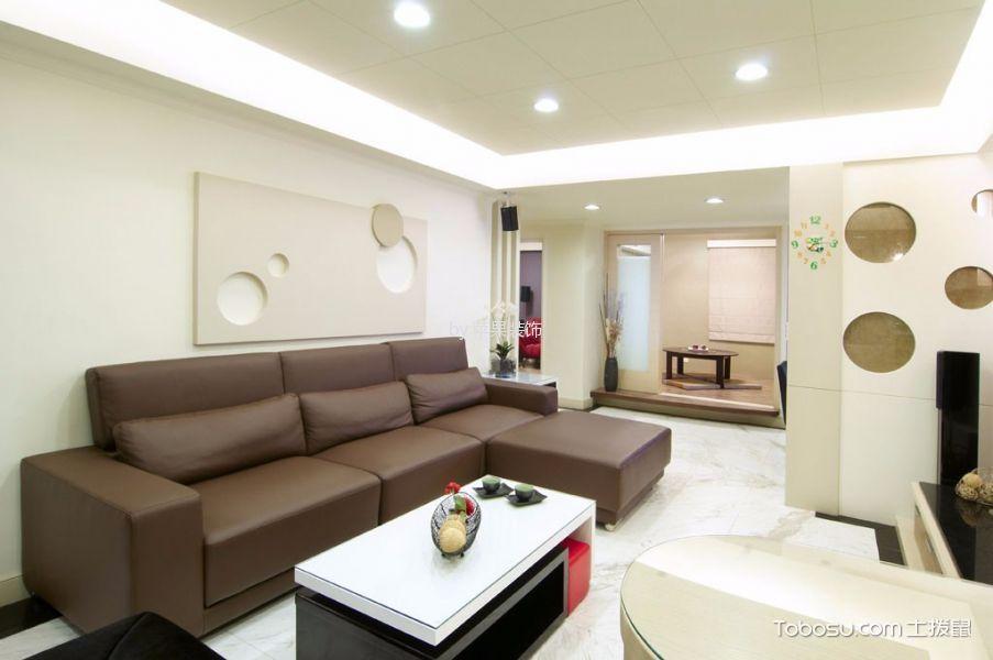 现代风格115平米3房3厅房子装饰效果图
