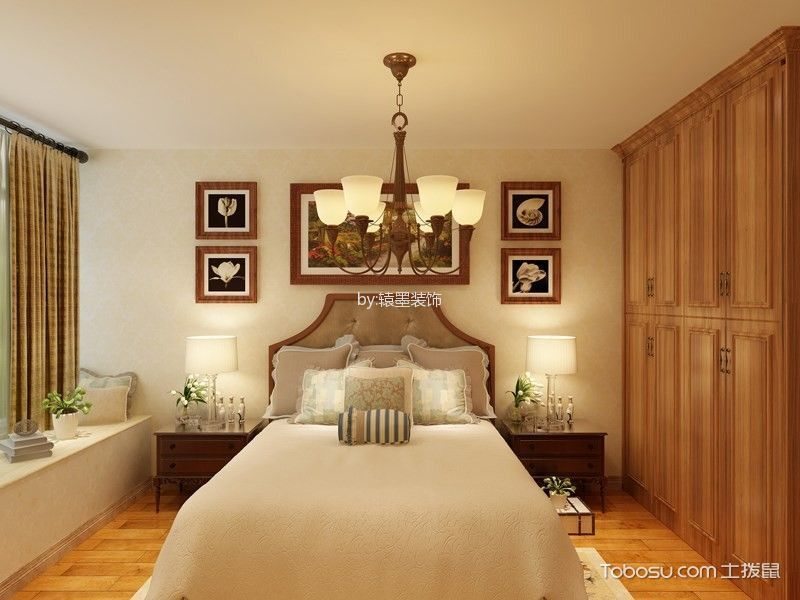 法式风格120平米3房2厅房子装饰效果图