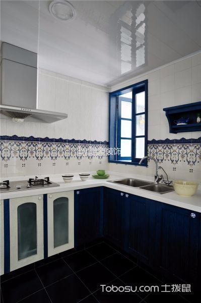 厨房白色背景墙北欧风格装修效果图