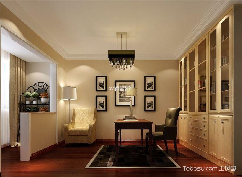 书房米色照片墙现代风格装潢图片