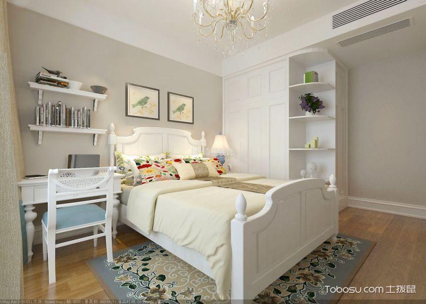 儿童房白色书桌简欧风格装饰图片