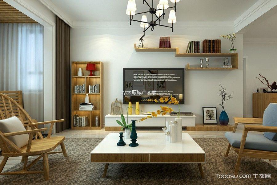 客厅 背景墙_现代简约风格93平米2房2厅房子装饰效果图