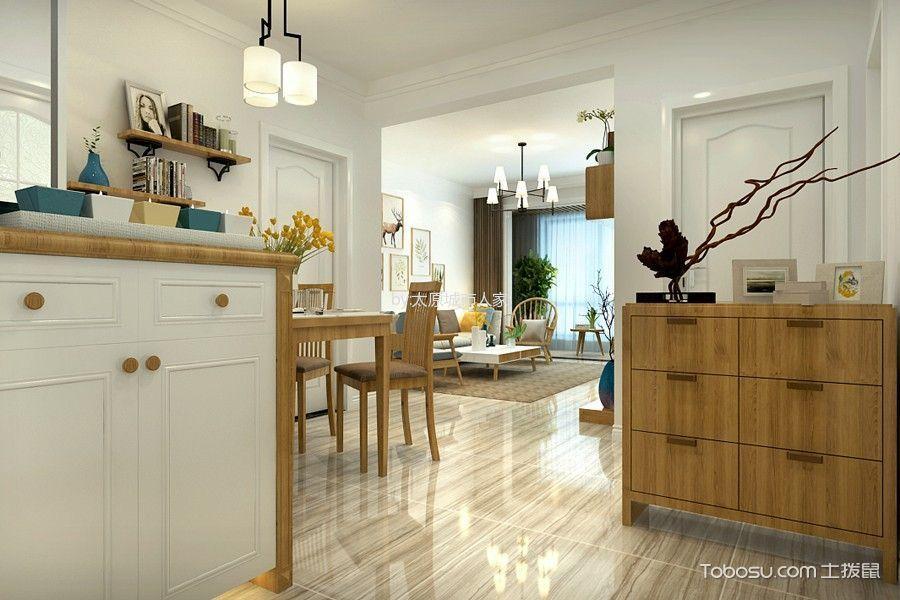 玄关 地板砖_现代简约风格93平米2房2厅房子装饰效果图