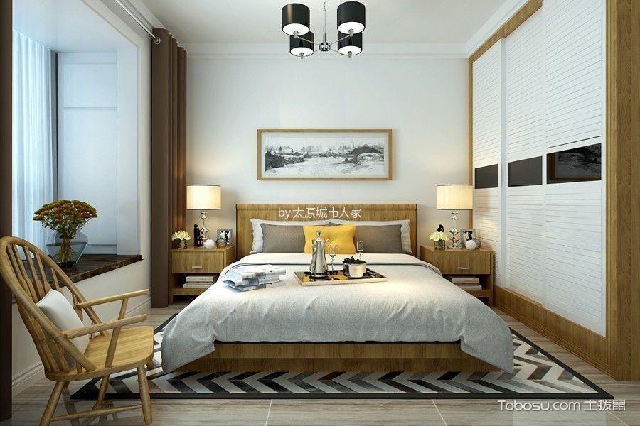卧室白色衣柜现代简约风格装潢图片