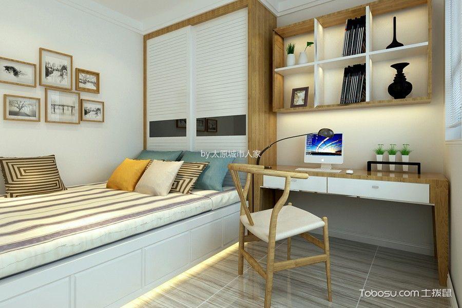 卧室 照片墙_现代简约风格93平米2房2厅房子装饰效果图