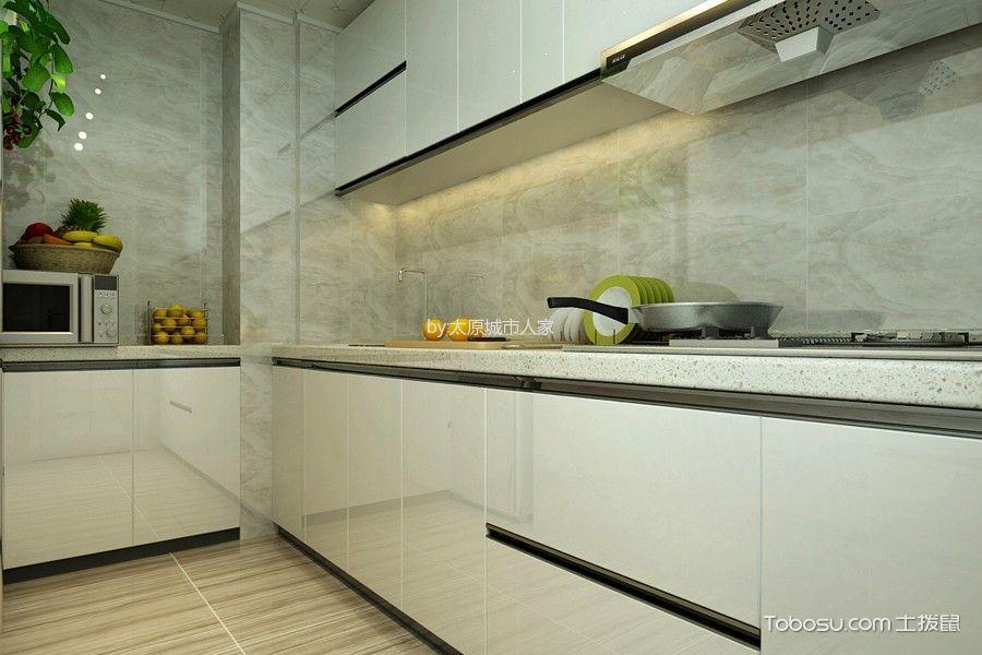 厨房 橱柜_现代简约风格93平米2房2厅房子装饰效果图