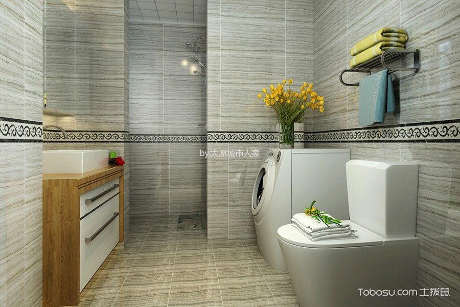 卫生间 背景墙_现代简约风格93平米2房2厅房子装饰效果图