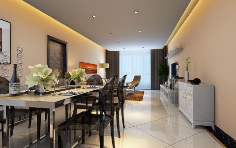 简约风格200平米别墅房子装饰效果图