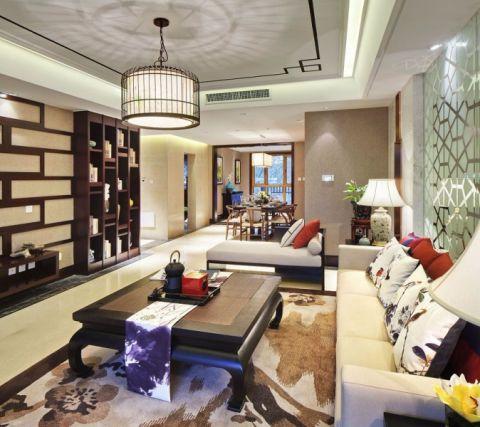 新中式风格180平米复式房子装饰效果图