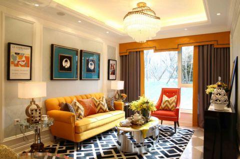 简欧风格80平米两室两厅室内装修效果图