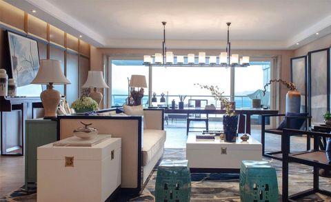 新中式风格330平米别墅室内装修效果图