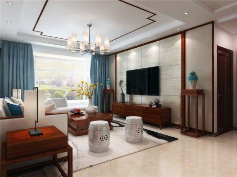 新中式风格140平米3房2厅房子装饰效果图