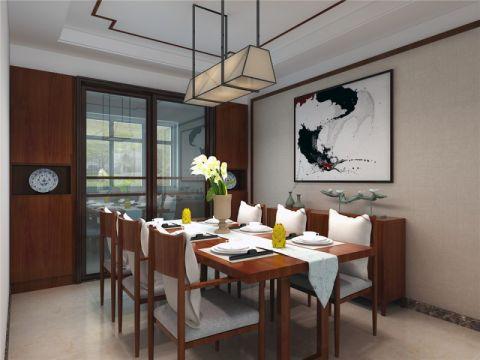 餐厅餐桌新中式风格装潢设计图片