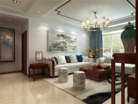 客厅沙发新中式风格效果图
