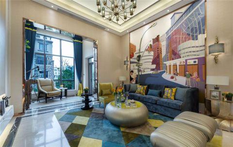 简约风格90平米三室两厅室内装修效果图