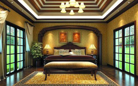 美式风格320平米别墅室内装修效果图