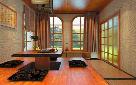 起居室榻榻米美式风格装饰效果图