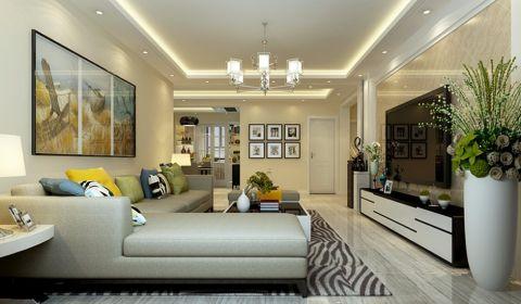 现代简约风格135平米三室两厅室内装修效果图
