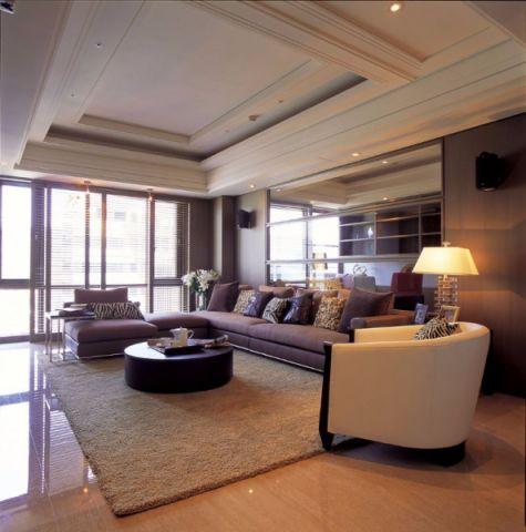 现代风格130平米3房2厅房子装饰效果图
