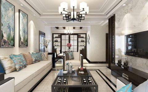 新中式风格250平米大户型新房装修效果图
